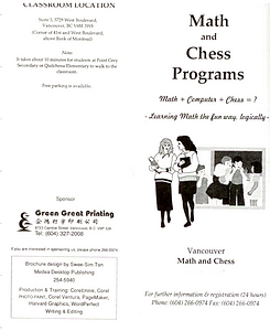 1995 Ho Math and Chess summer brochure